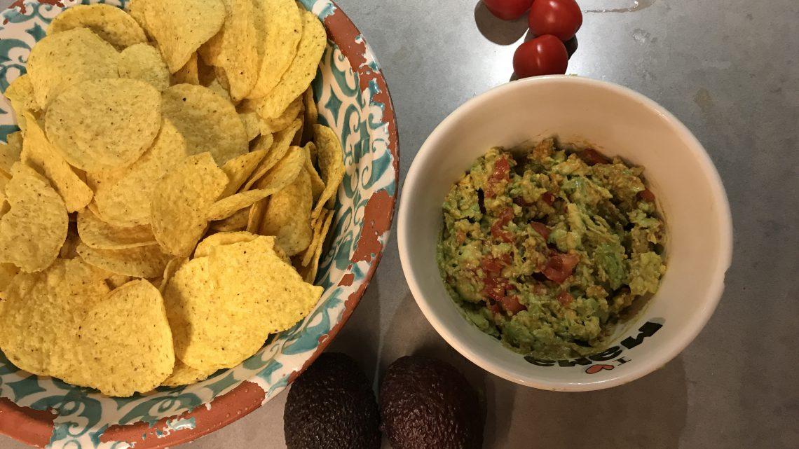 Vegan guacamole dip (recept)