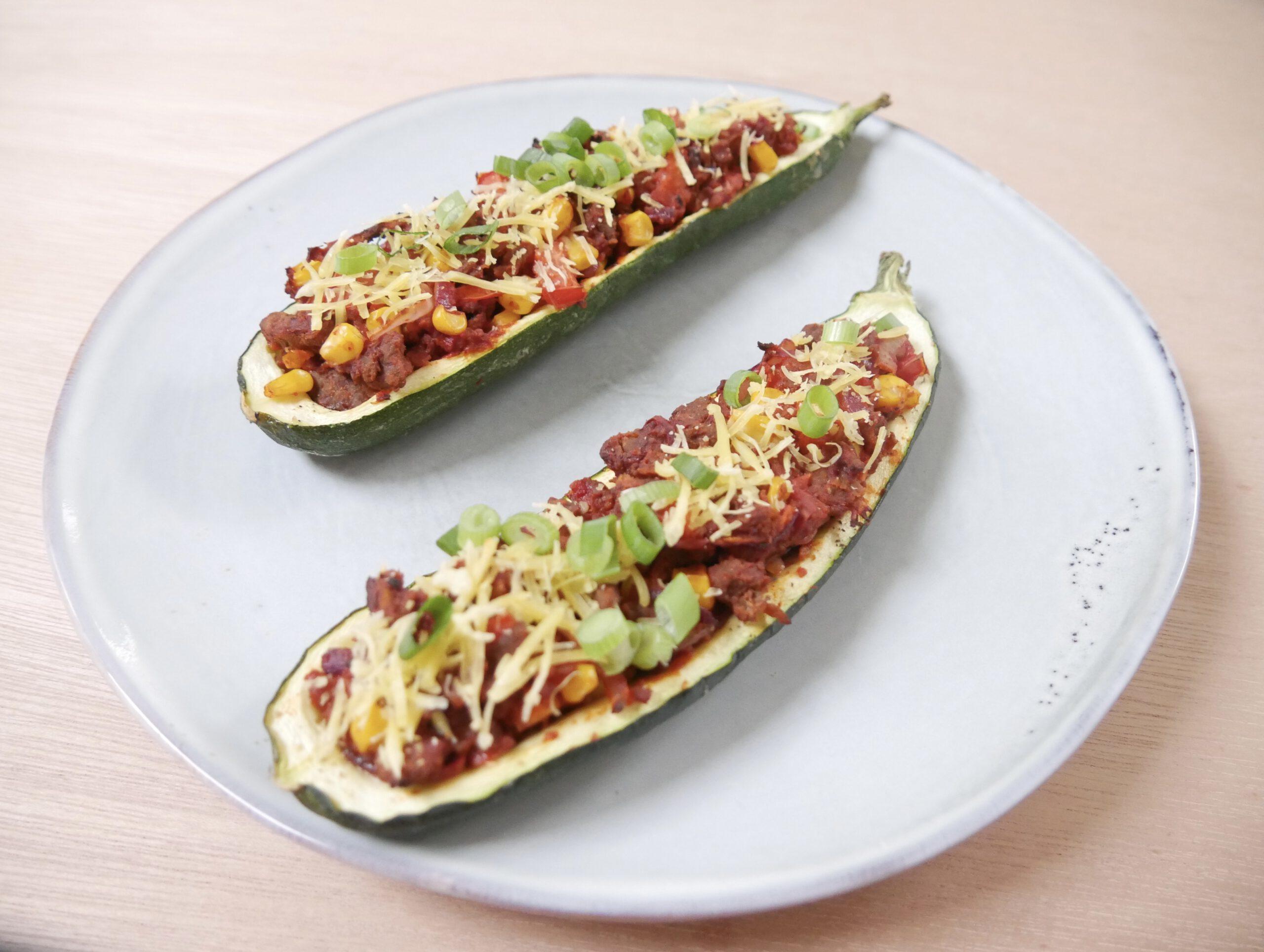 Vegan gevulde courgette (recept)