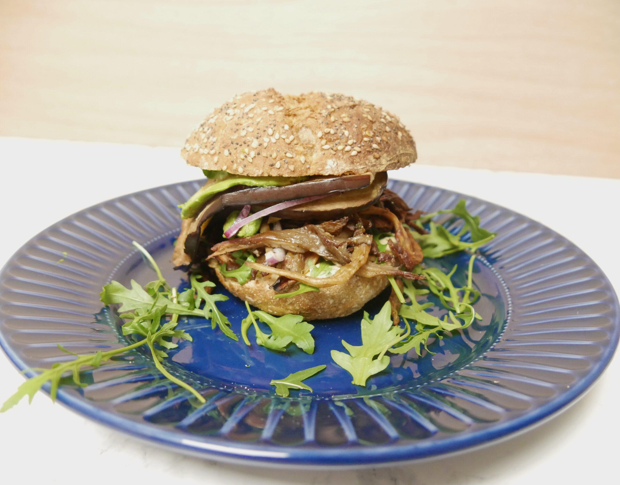 Vegan burger met oesterzwammen (recept)